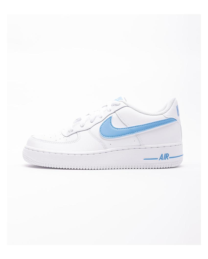 NIKE AIR FORCE 1 LOW GS(WHITE/WHITE-UNIVERSITY BLUE)