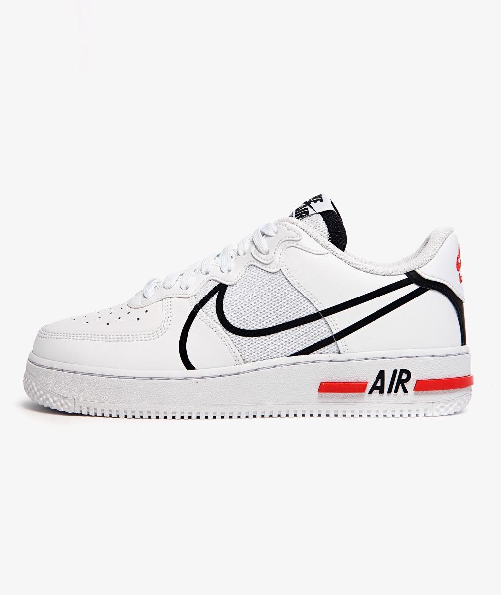 NIKE AIR FORCE 1 REACT(WHITE/BLACK-UNIVERSITY RED)