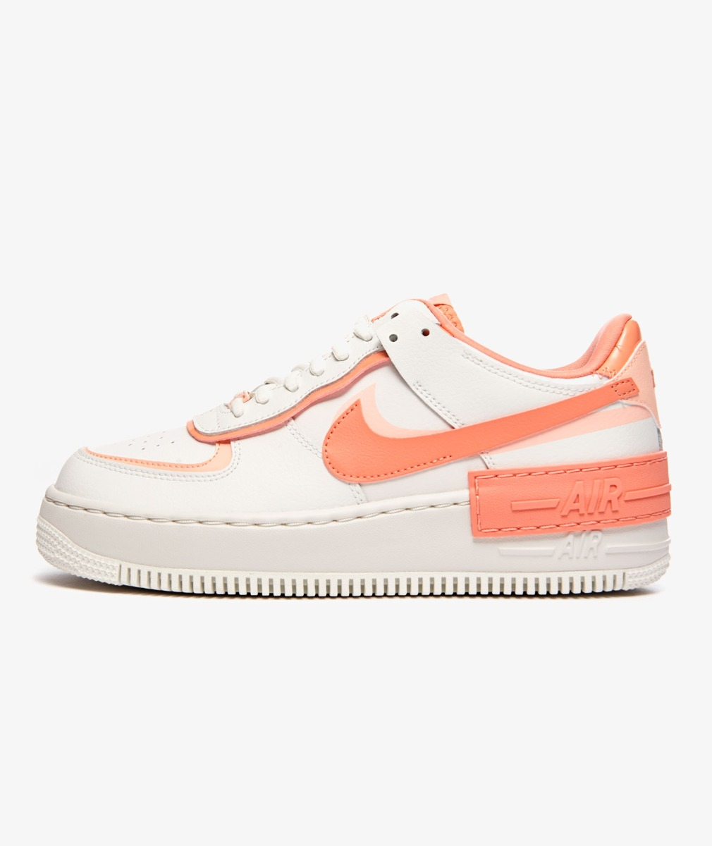 NIKE WMNS AIR FORCE 1 SHADOW(SUMMIT WHITE/WASHED CORAL-SUMMIT WHITE-PINK QUARTZ)
